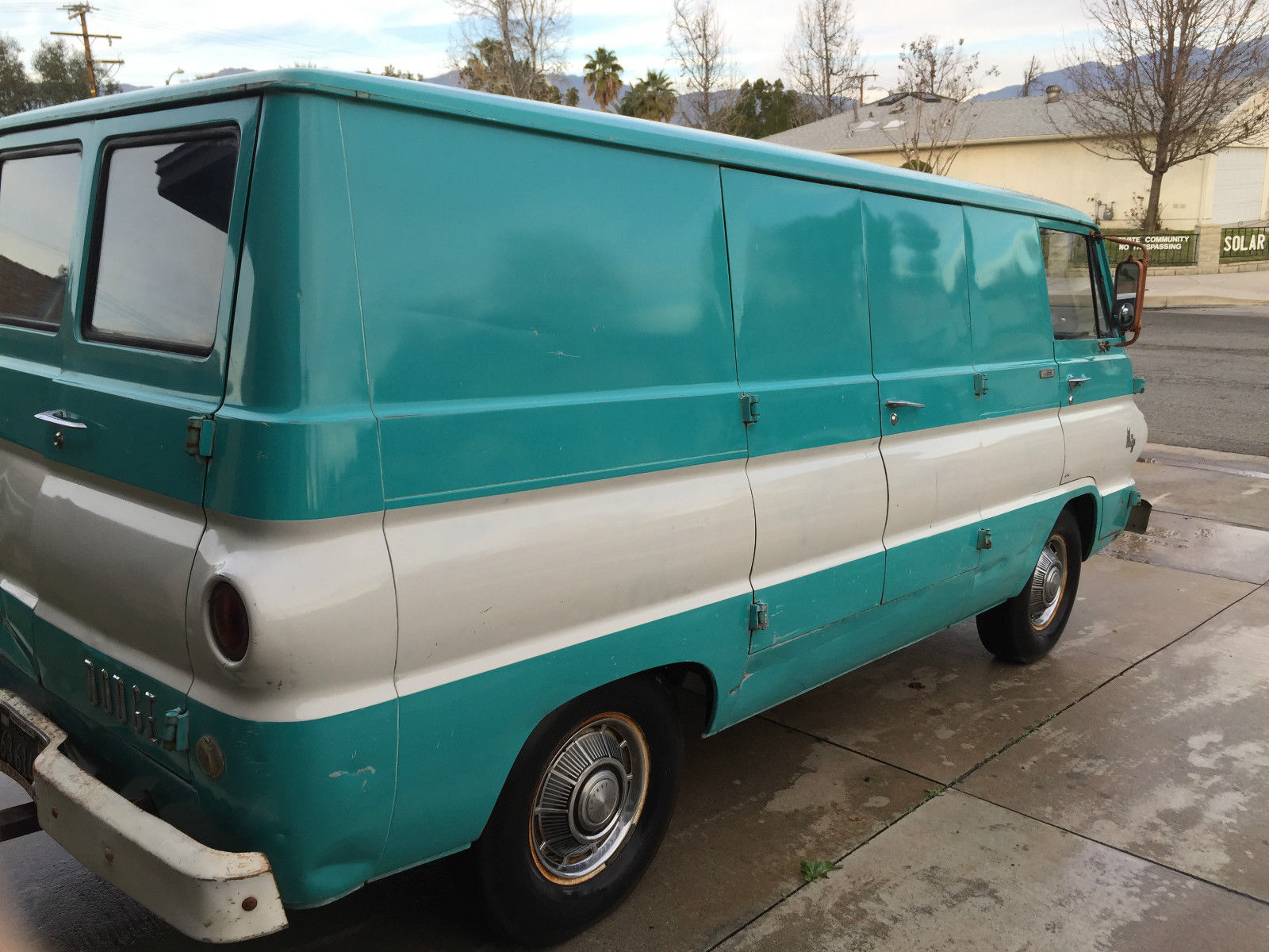 1968 dodge a108 orig paint panel van for sale in redlands  california  united states