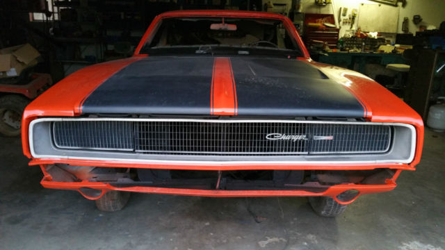 1968 Dodge Charger Excellent Body Project Car For Sale In English