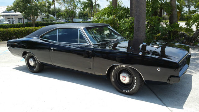 "1968 DODGE CHARGER ""REAL"" R/T TRIPLE BLACK 440 4 SPEED for ..."