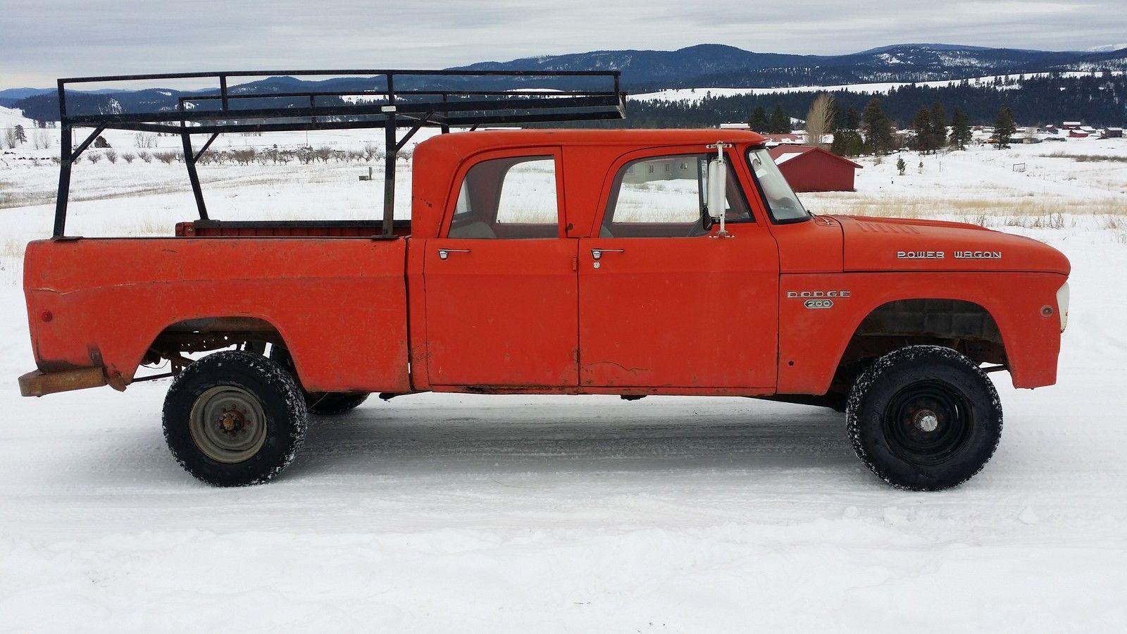 1968 DODGE POWER WAGON CREW CAB W200 3/4TON 4X4SWEPTLINE ...