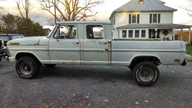 1968 Ford F250 Crew Cab 4x4 New 390 3x2 Dana 60 Axles