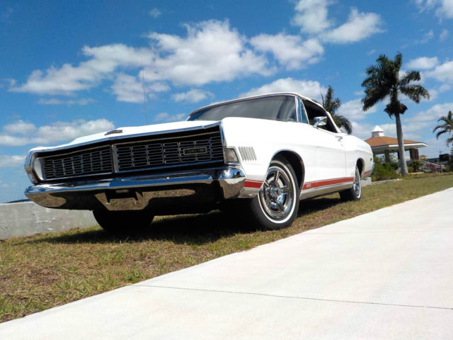 1968 ford galaxie xl convertible 390ci automatic white red. Black Bedroom Furniture Sets. Home Design Ideas