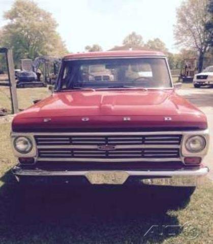 1968 ford ranger f100 390 four barrel v8 automatic rwd pickup truck oak bed for sale in carriere. Black Bedroom Furniture Sets. Home Design Ideas