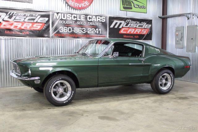 1968 Mustang Fastback Bullitt Build, Highland Green ...1968 Mustang Coupe Build