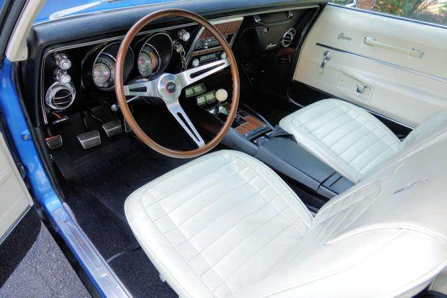 1968 SS/RS 396 Camaro Lemans Blue Parchment Interior - 4 ...