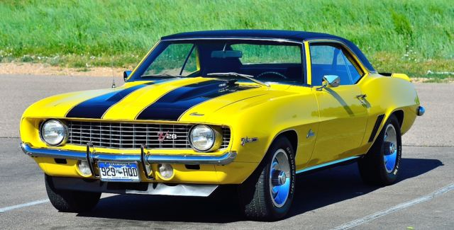 1969 302 Z28 Daytona Yellow With Black Sport Stripes W
