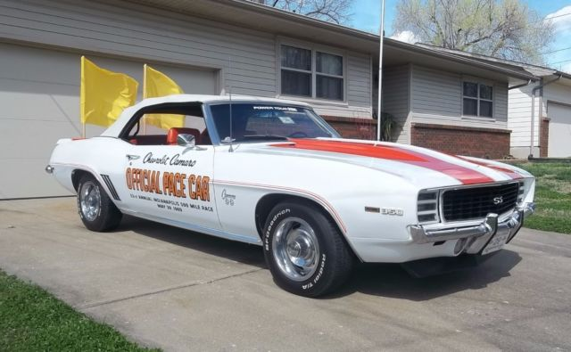 1969 Camaro Rs Ss Z11 Pace Car Numbers Matching Protecto