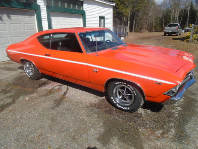 1969 chevelle ss 396 new paint rebuilt 396 hugger orange for Classic 405 motors mustang ok