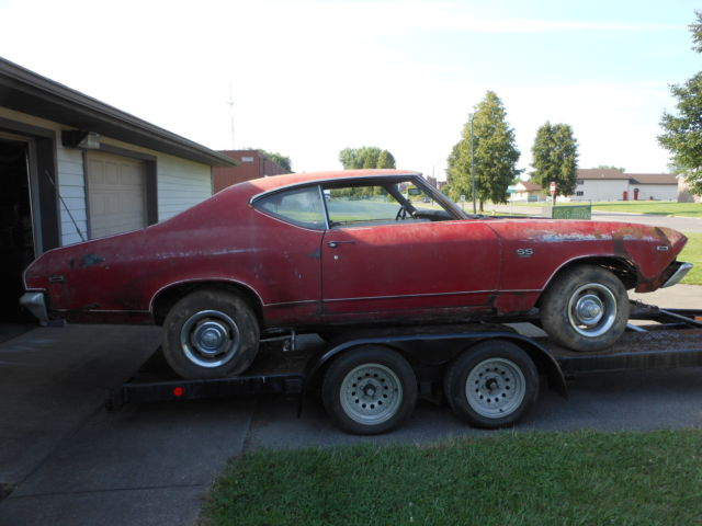 1969 chevelle ss blue 396 4 speed barn find for sale in. Black Bedroom Furniture Sets. Home Design Ideas