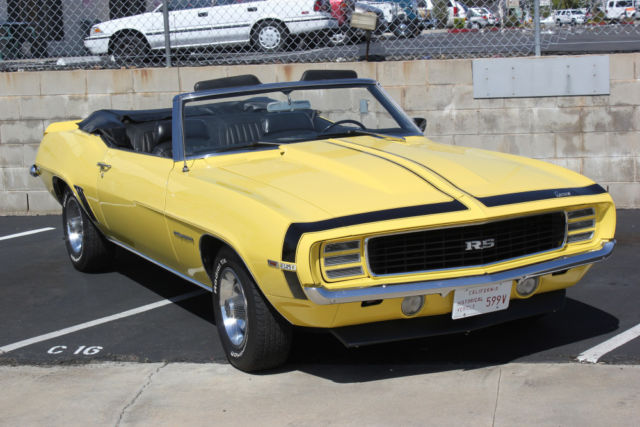 1969 chevrolet camaro rs lm1 convertible numbers matching for sale in san diego california. Black Bedroom Furniture Sets. Home Design Ideas