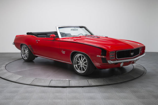 1969 chevrolet camaro rs ss 349 miles torch red convertible 427 v8 5 speed manua. Black Bedroom Furniture Sets. Home Design Ideas