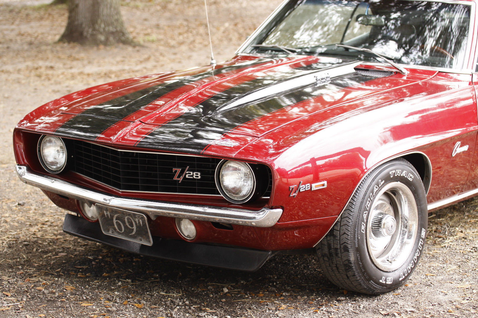 1969 chevrolet camaro z28 red with black striping black interior for sale in melbourne. Black Bedroom Furniture Sets. Home Design Ideas