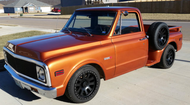 1969 Chevy Truck For Sale >> 1969 Chevy C10 Stepside, sweet ride, great truck, restored Wood Bed, burnt Orng for sale in ...