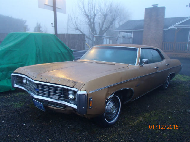 Chevy Impala Auto Door Runs And Drives Stored Lt Yrs Needs Tlc