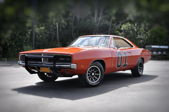 1969 Charger Magnum 383 Dukes of Hazzard General Lee Tin Sign Mopar Ford Chevy