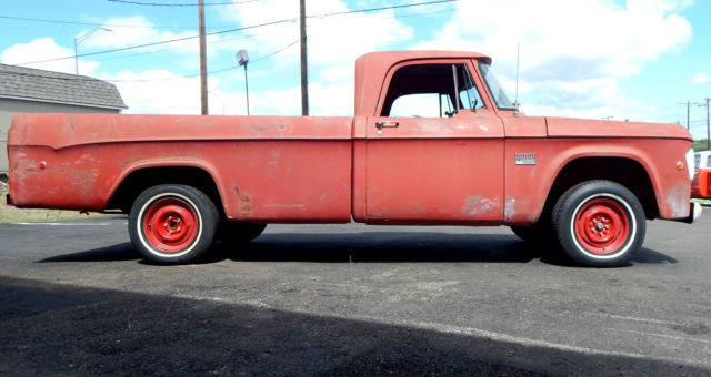 1969 dodge d100 red long wheel base classic pickup truck for sale in tyler texas united states. Black Bedroom Furniture Sets. Home Design Ideas