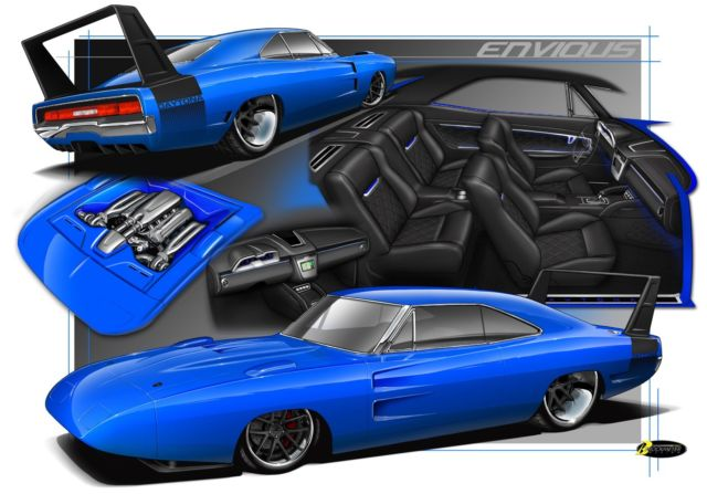1969 Dodge Daytona Replica Hemi Protouring Project Car