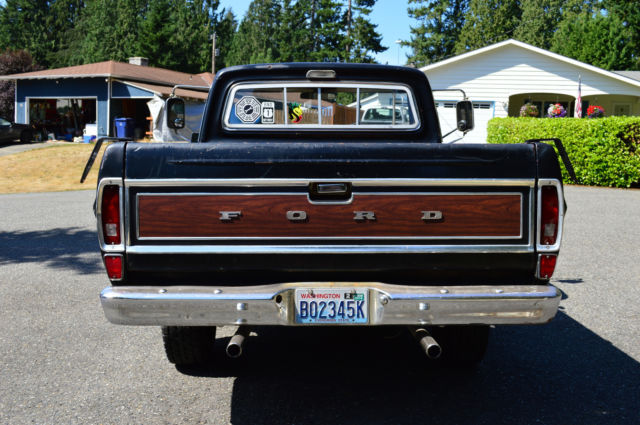 1969 ford f100 ranger original black short bed pickup truck for sale  photos  technical