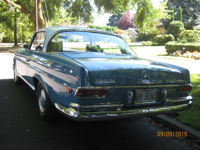 1969 mercedes benz 280se coupe 99 750 original miles for for Mercedes benz portland or