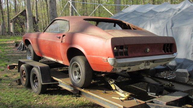 1969 mustang mach 1 351w 4v 4 speed very solid body ford project car for sale in colchester. Black Bedroom Furniture Sets. Home Design Ideas