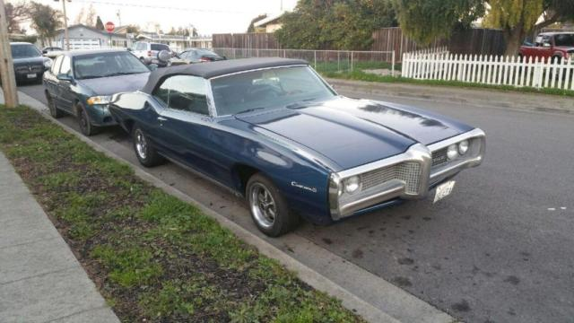 1969 Pontiac Custom S Convertible Rare Car Original 4speed