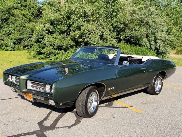 Pontiac Gto Convertible Speed Original Midnight Green Poly Nice