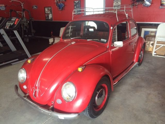 1969 V W Beetle Rebuilt Engine Maroon Body Color For