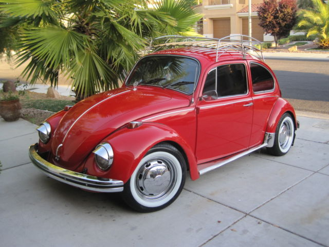 1969 vw beetle red classic ac roof rack chrome new. Black Bedroom Furniture Sets. Home Design Ideas
