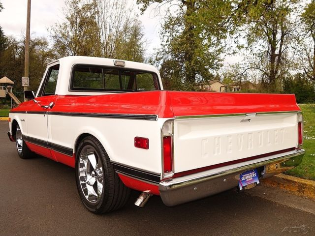 1970 Chevrolet C10 Short Bed Orange White W Black Int