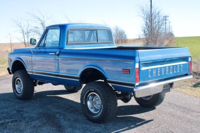 1970 Chevrolet K10 Short Wide Bed 4x4 Pickup 4 Speed Rare