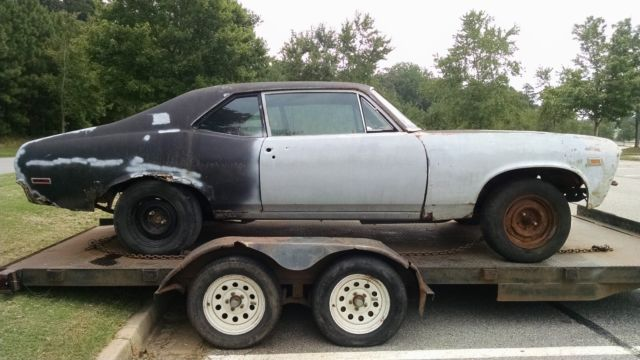 1970 Chevrolet Nova project with SS396 or Yenko Deuce