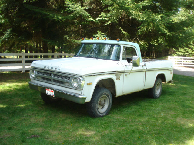 1970 dodge power wagon 4x4 shortbed truck for sale in coeur d 39 alene idaho united states. Black Bedroom Furniture Sets. Home Design Ideas
