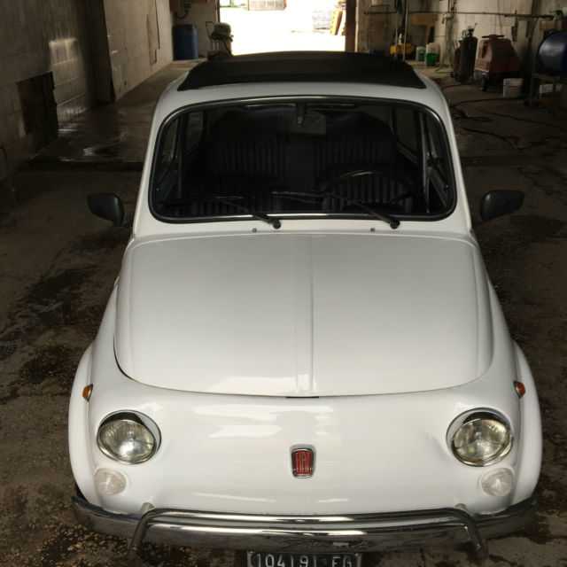 1970 Fiat 500 110F Model L Luxury White For Sale In Kearny