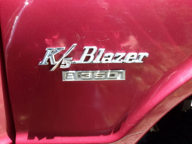 Custom Color Well Maintained: 1970 K5 Blazer, 4X4, Custom Plum Red Paint, Well