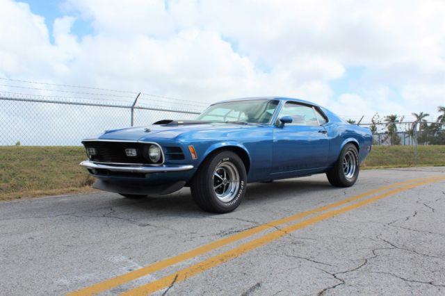 1970 mustang mach 1 88 142 miles bright blue metallic. Black Bedroom Furniture Sets. Home Design Ideas