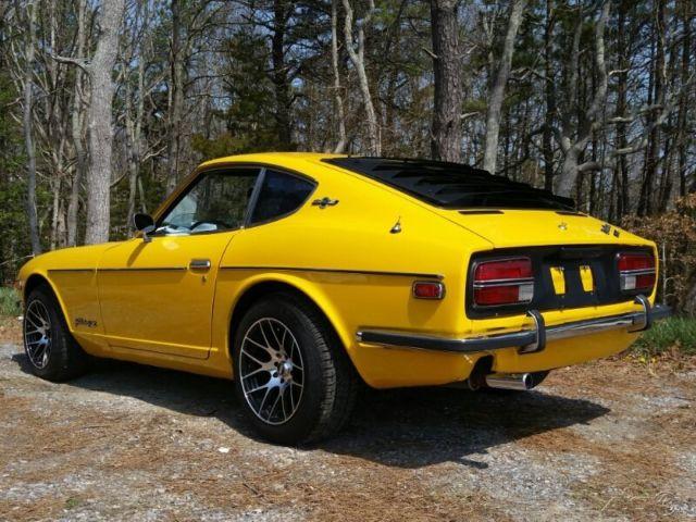 77139 1970 Nissan Datsun Yellow 240z Fairlady Black Leather Manual Nj Ny Pa Ct Ca Flon 1970 Nissan Datsun 240z