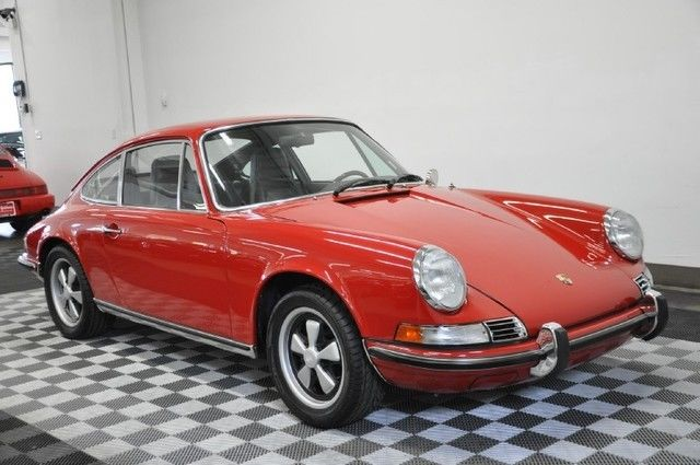 1970 porsche 911t coupe red black 5 speed a c very nice car for sale in cleveland ohio united. Black Bedroom Furniture Sets. Home Design Ideas