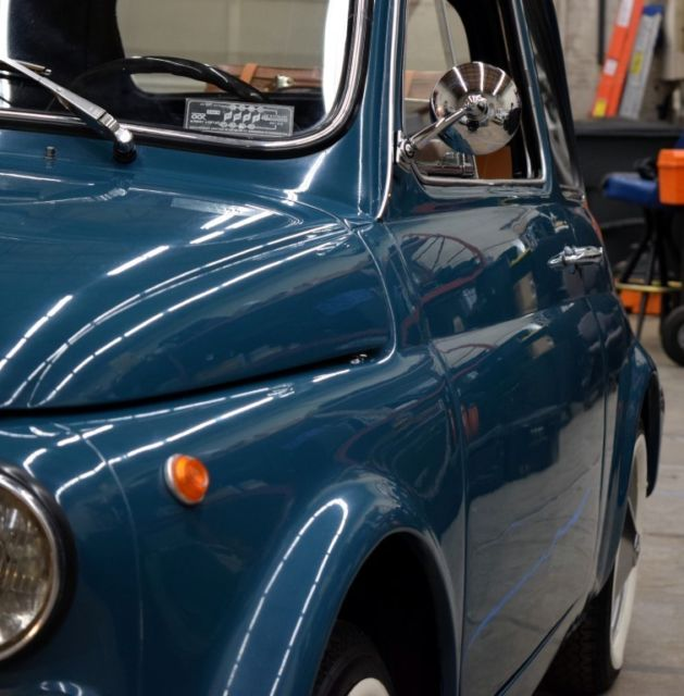 1970 Turquoise Fiat 500L, 1 Owner, Fully Documented