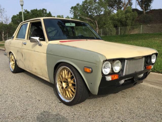 1971 Datsun 510 2 Door sedan SOLID bare body with sheetmetal