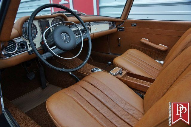 1971 mercedes benz 280sl roadster ivory on cognac auto gorgeous. Black Bedroom Furniture Sets. Home Design Ideas