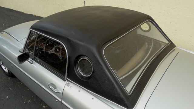 1971 Mgb With Both Hard And Soft Top Frame On Restoration