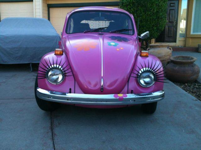 1971 Volkswagen Beetle - Classic bug Hippie Chic Pink ...