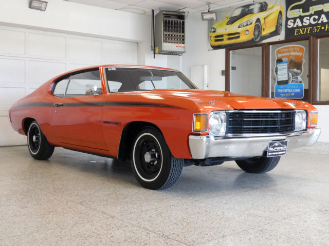 1972 chevrolet chevelle heavy chevy 1 owner rare classic 350 turbo fire l48. Black Bedroom Furniture Sets. Home Design Ideas