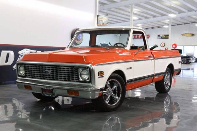 1972 Chevrolet C/K 10 Series 6500 Miles Orange and White ...