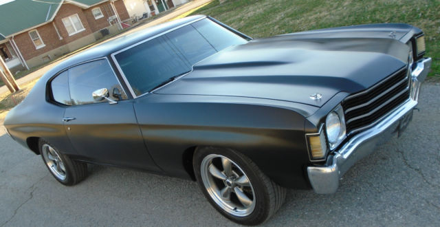 1972 Chevy Chevelle Malibu Ss Blacked Out Bad At Ss Murder Chevelle For