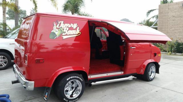 1972 Chevy Custom Shorty Van G20 Street Van Hot Rod Cherry ...