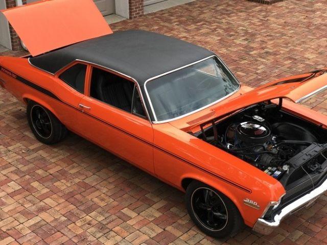 1972 Chevy Nova Yenko Stripes Custom Orange Paint