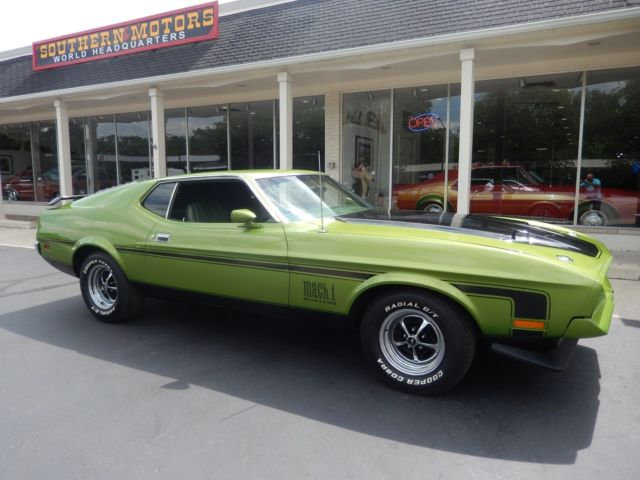 1972 ford mustang mach 1 lime green match s 351 with. Black Bedroom Furniture Sets. Home Design Ideas