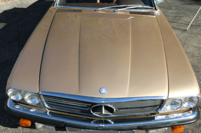 1972 mercedes benz 350sl gold convertible for Mercedes benz sl 350 price