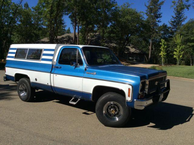 1973 Chevrolet C 20 4x4 Super Cheyenne Camper Special Pick